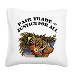 FIN-fair-trade-justice Square Canvas Pillow