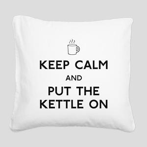 Keep Calm Square Canvas Pillow