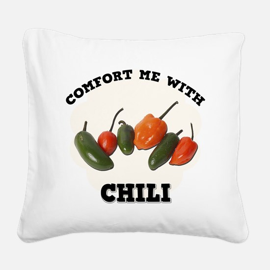 FIN-comfort-chili.png Square Canvas Pillow