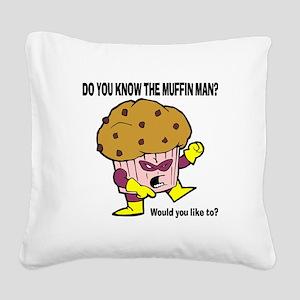 FIN-muffin-man Square Canvas Pillow
