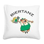 FIN-biertanz-man.png Square Canvas Pillow
