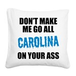Carolina Football Square Canvas Pillow