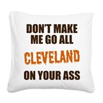 Cleveland Football Square Canvas Pillow