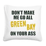 Green Bay Football Square Canvas Pillow