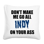 Indianapolis Football Square Canvas Pillow