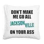 Jacksonville Football Square Canvas Pillow