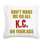 Kansas City Football Square Canvas Pillow