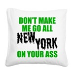 New York Football Square Canvas Pillow