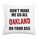 Oakland Football Square Canvas Pillow