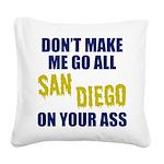 San Diego Football Square Canvas Pillow