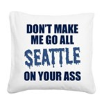 Seattle Football Square Canvas Pillow