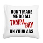 Tampa Bay Football Square Canvas Pillow
