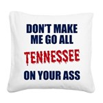 Tennessee Football Square Canvas Pillow
