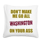 Washington Football Square Canvas Pillow