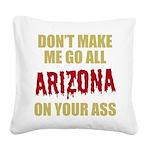 Arizona Baseball Square Canvas Pillow