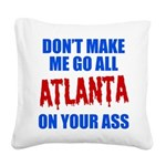 Atlanta Baseball Square Canvas Pillow