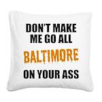 Baltimore Baseball Square Canvas Pillow