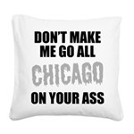 Chicago Baseball Square Canvas Pillow
