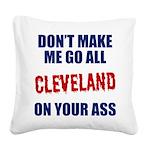 Cleveland Baseball Square Canvas Pillow