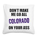 Colorado Baseball Square Canvas Pillow