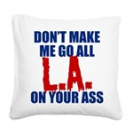L.A. Baseball Square Canvas Pillow