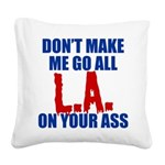 Los Angeles Baseball Square Canvas Pillow