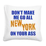 New York Baseball Square Canvas Pillow