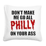 Philadelphia Baseball Square Canvas Pillow