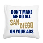 San Diego Baseball Square Canvas Pillow
