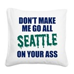 Seattle Baseball Square Canvas Pillow