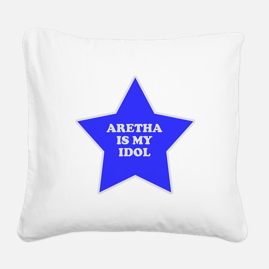 star-aretha.png Square Canvas Pillow