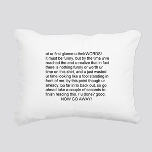 2-read my txt Rectangular Canvas Pillow