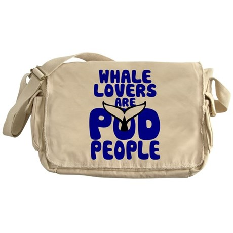 Whale Lovers are Pod People - for light fabrics Me