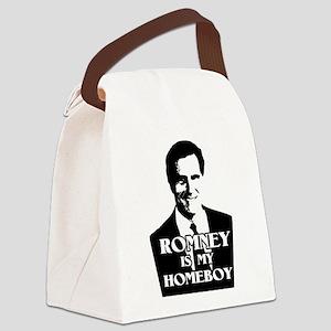Mitt Romney is my Homeboy Canvas Lunch Bag