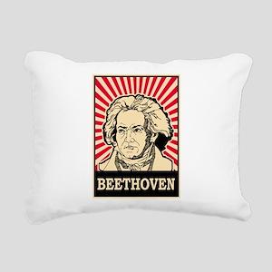 Pop Art Beethoven Rectangular Canvas Pillow