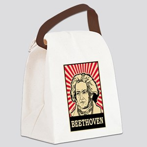 Pop Art Beethoven Canvas Lunch Bag