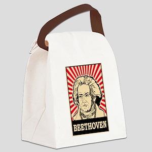 Pop Art Beethoven Canvas Lunch Bag