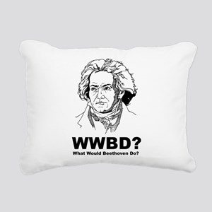 What Would Beethoven Do Rectangular Canvas Pillow