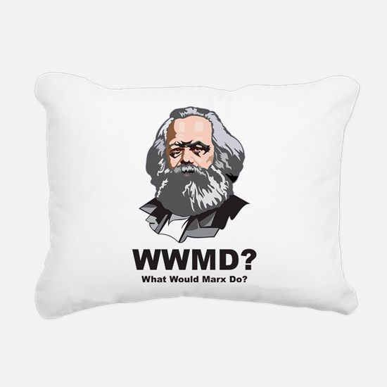 What Would Marx Do Rectangular Canvas Pillow