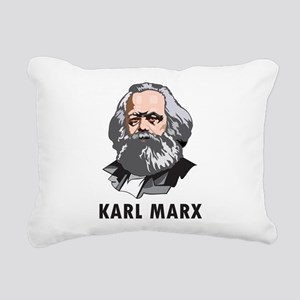 Karl Marx Rectangular Canvas Pillow