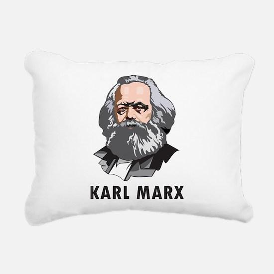 Karl Marx Rectangular Canvas Pillow