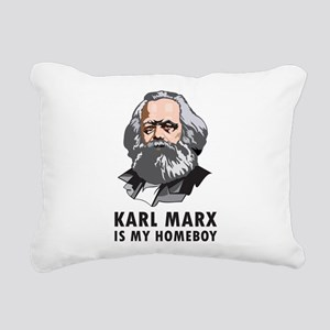 Karl Marx Is My Homeboy Rectangular Canvas Pillow