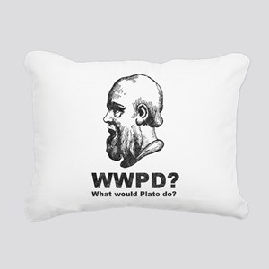 What Would Plato Do? Rectangular Canvas Pillow