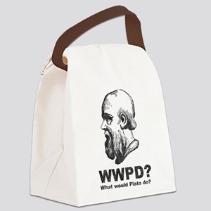 What Would Plato Do? Canvas Lunch Bag
