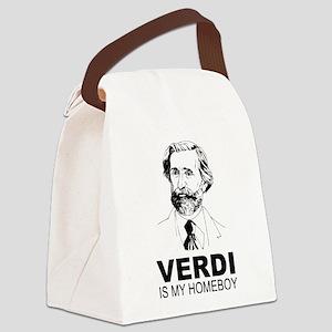 Verdi Is My Homeboy Canvas Lunch Bag
