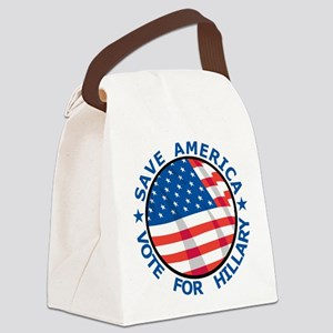 Save America Vote For Hillary Canvas Lunch Bag