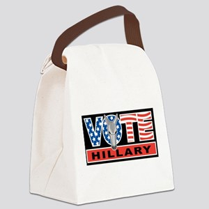 Vote Hillary Canvas Lunch Bag