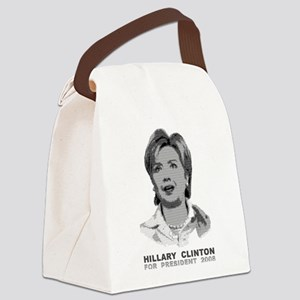 Hillary Clinton Ascii Art Canvas Lunch Bag