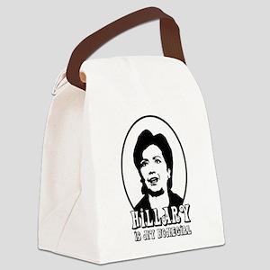 Hillary Is My Homegirl Canvas Lunch Bag