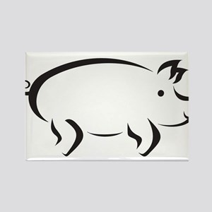 Simple Pig Rectangle Magnet